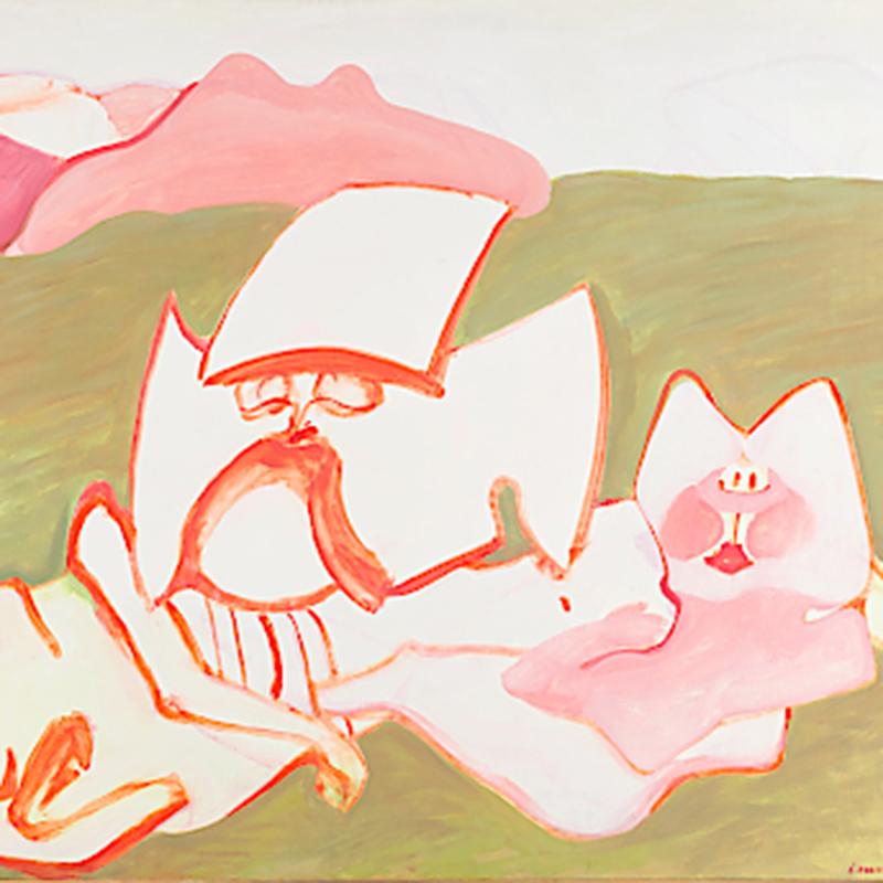 © Maria Lassnig Erschaffung der Eva,Ausschnitt, 1962/63; © Maria Lassnig Stiftung Foto