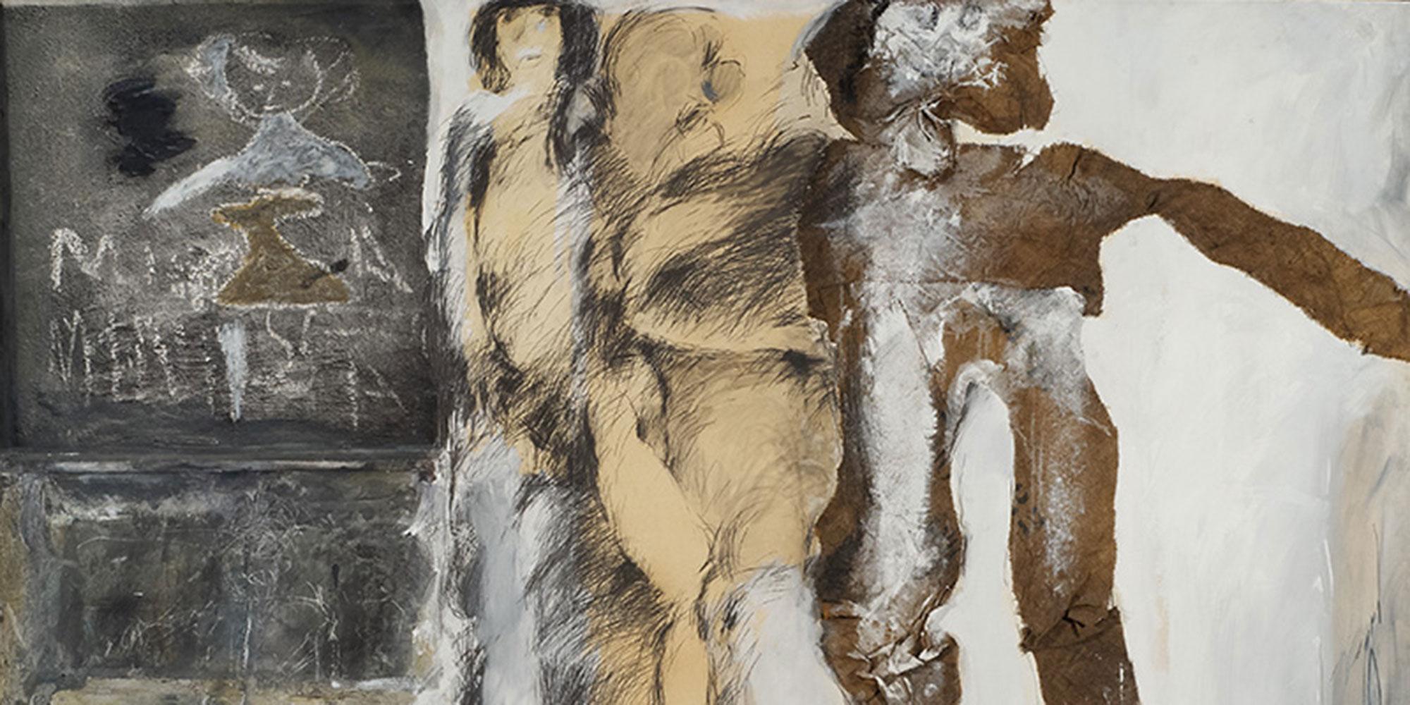 © Adolf Frohner, Die Flucht, Hommage an Jean Dubuffet, 1966 ©  LENTOS Kunstmuseum Linz, Foto: Reinhard Haider