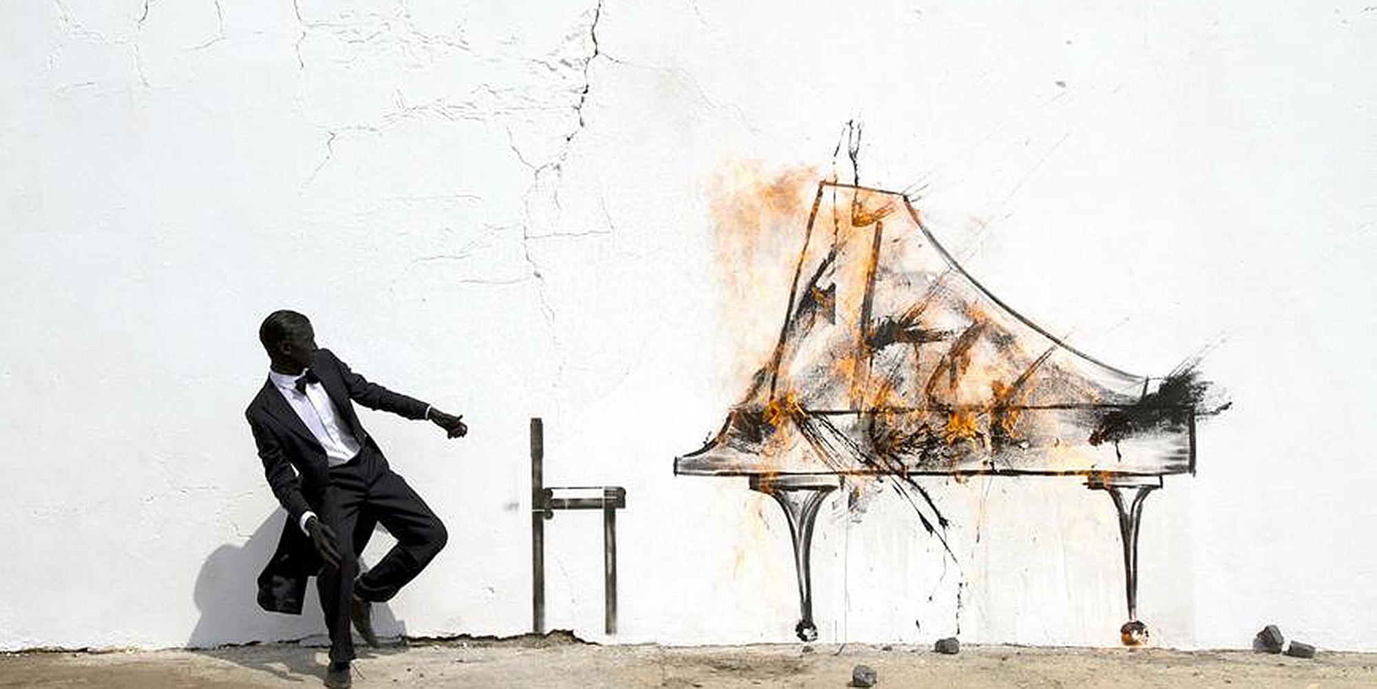 © Courtesy: The Artist; Robin Rhode, Piano Chair, 2011